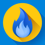 Blue fire flame icon vector illustration. Blue fire flame icon vector logo illustration Stock Image