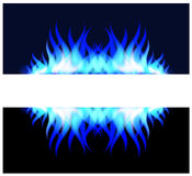 Blue fire flame Royalty Free Stock Images