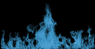 Blue Fire flames Royalty Free Stock Photo