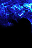 Blue fire flames energy frame. Or background Royalty Free Stock Photos