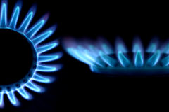 Blue fire of a gas Royalty Free Stock Photos