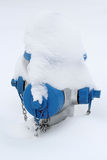 Blue fire hydrant in snow Royalty Free Stock Photos