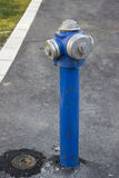 Blue Fire Hydrant Royalty Free Stock Image