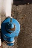 Blue fire hydrant Royalty Free Stock Photos