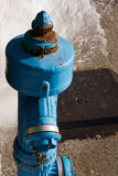Blue fire hydrant Stock Images