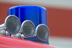 Blue Fire light. Fire light and siren of an german fire-truck stock photography
