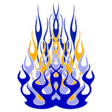 Blue Fire. A blue fire ornament with tattoo style Stock Image