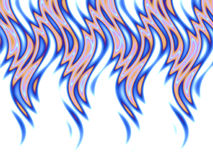 Blue fire over white. Wavy flames pattern over white Royalty Free Stock Photo
