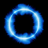 Blue fire ring Stock Photography