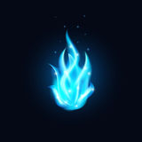 Blue Fire Stock Image