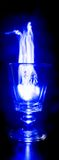 Blue Fire Wine Glass Stock Photos