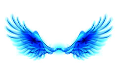 Blue fire wings. Illustration of blue fire wings on white background Royalty Free Stock Photos