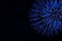 Blue fire works celebration Stock Photo