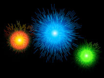 Blue firework background Royalty Free Stock Photos