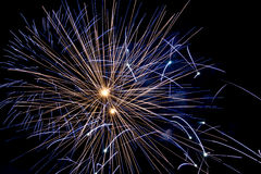 Blue Firework Royalty Free Stock Image