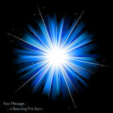 Blue firework or sunburst Stock Photos