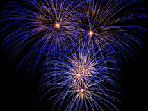 Blue Firework trails Stock Photography