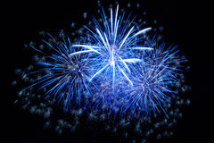 Blue fireworks Royalty Free Stock Photography