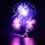 Blue fireworks Royalty Free Stock Image