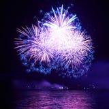 Blue fireworks Royalty Free Stock Photos