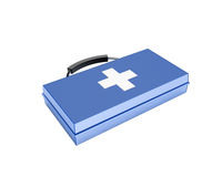 Blue first-aid set Stock Photos