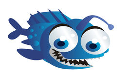 Blue fish cartoon Stock Photo