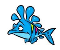 Blue fish cartoon illustration Royalty Free Stock Photo