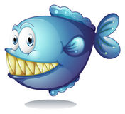Blue fish. Illustration of a blue fish Royalty Free Stock Image