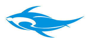 Blue fish logo Stock Photo