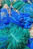 Blue fish net background Royalty Free Stock Photos