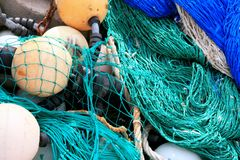 Blue fish net background Royalty Free Stock Image