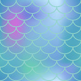 Blue fish scale seamless pattern. Square  background with fish scale ornament. Pink and blue abstract gradient mesh. Mermaid pattern or decor element. Fish Royalty Free Stock Image