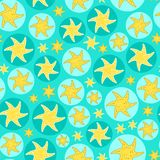 Blue Fish Seamless Pattern Stock Images
