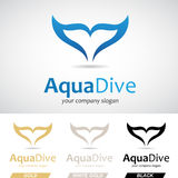 Blue Fish Tail Logo Icon Royalty Free Stock Photo