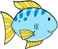 Blue Fish Vector. Cute Blue fish Vector Illustration Stock Image