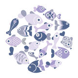 Blue Fishes Stock Image