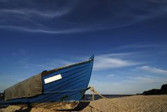 Blue Fishing boat Royalty Free Stock Photo