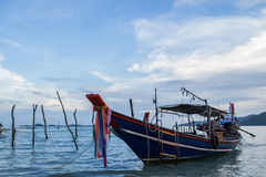 Blue Fishing boat Royalty Free Stock Images