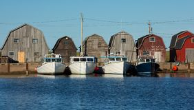 Barns And Lobster Traps Stock Image Image Of Copy Four