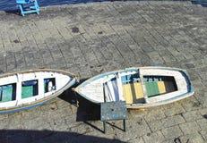 Blue fishing boat Royalty Free Stock Photos