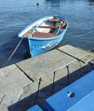 Blue fishing boat Stock Photography