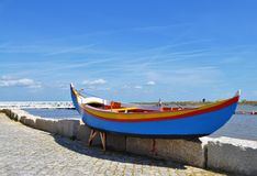 The blue fishing boat Royalty Free Stock Photo