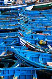 Blue Fishing boats. Fishing boats in harbour Essaouira north Atlantic Morocco North Africa Stock Photography