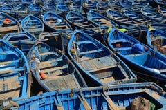 Blue Fishing Boats Royalty Free Stock Image