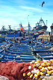 Blue fishing boats of Essaouira Royalty Free Stock Photography