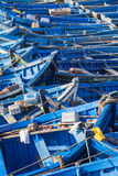 Blue fishing boats in Essaouira, Morocco, Africa Royalty Free Stock Photo