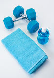 Blue Fitness Gear Royalty Free Stock Images