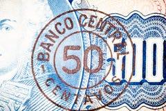 Blue five hundred Bill Stock Image