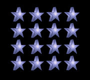Blue five pointed star Royalty Free Stock Images