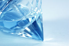 Blue flacon. Diamond shape flacon stock photography